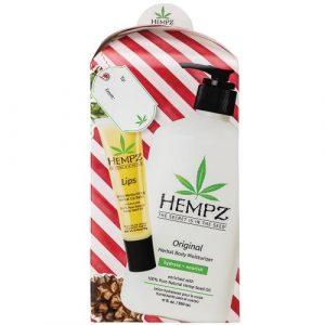 Hempz –  Original Body Moisturizer 17oz & Lip Balm Gift Set