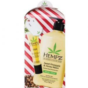 Hempz – Sweet Pineapple & Honey Melon Body Moisturizer 17oz & Lip Balm Gift Set