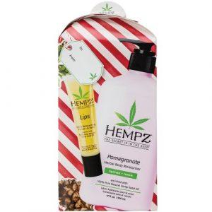 Hempz – Pomegranate Body Moisturizer 17oz & Lip Balm Gift Set